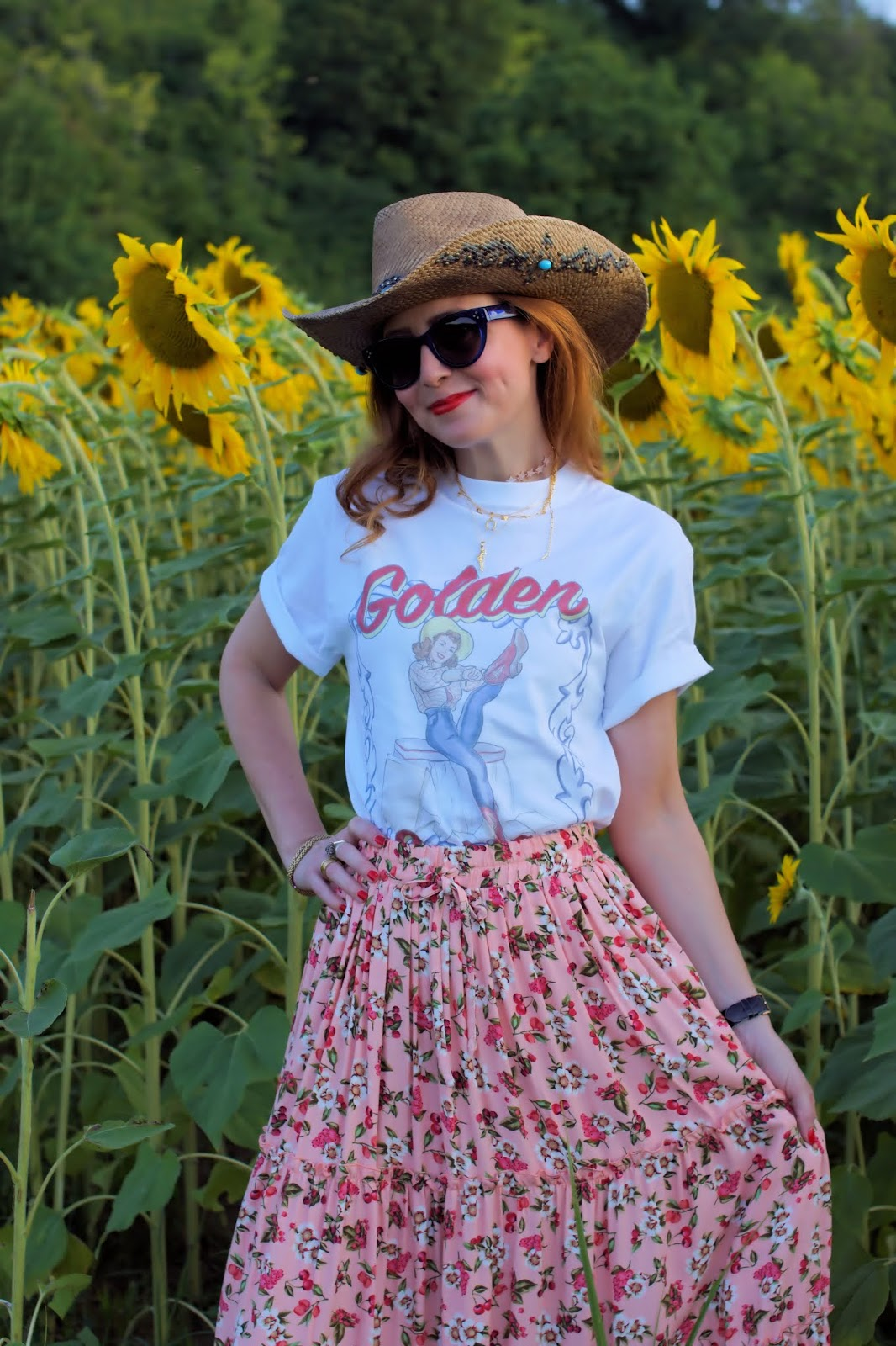 Golden Goose Pin Up t-shirt, country style on Fashion and Cookies fashion blog, fashion blogger style