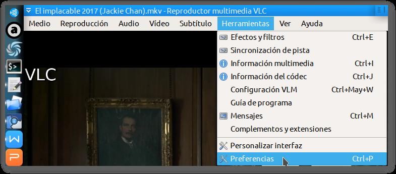 Poner-Tapar con fondo negro a subtítulo en VLC