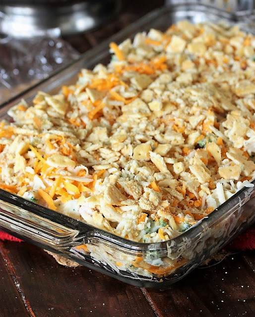 Cheesy Ham & Broccoli Casserole with Cracker Topping Image