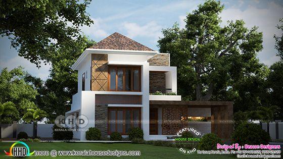 Modern style 4 bedroom house 3d rendering