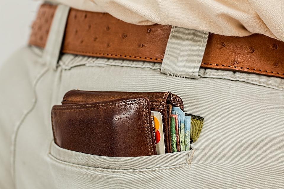 Carteira, Em Dinheiro, Cartão De Crédito, Bolso