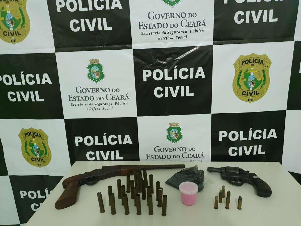Polícia Civil apreende duas armas em operação para cumprimento de mandados judiciais em Brejo Santo