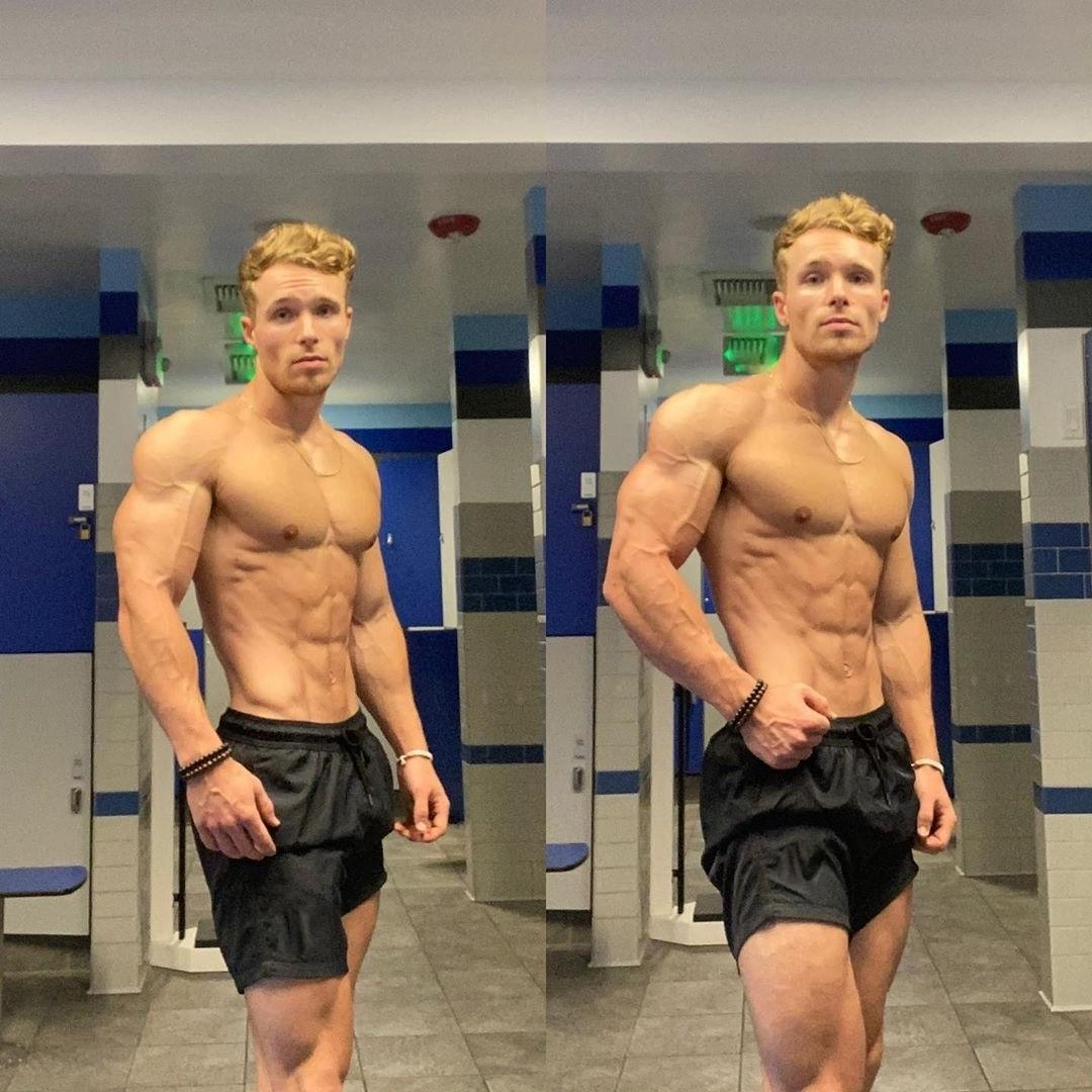 handsome-blond-extremely-fit-shirtless-muscle-gym-dude