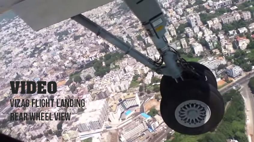 VIZAG FLIGHT LANDING VIDEO - SEA LAND ARIEL VIEW