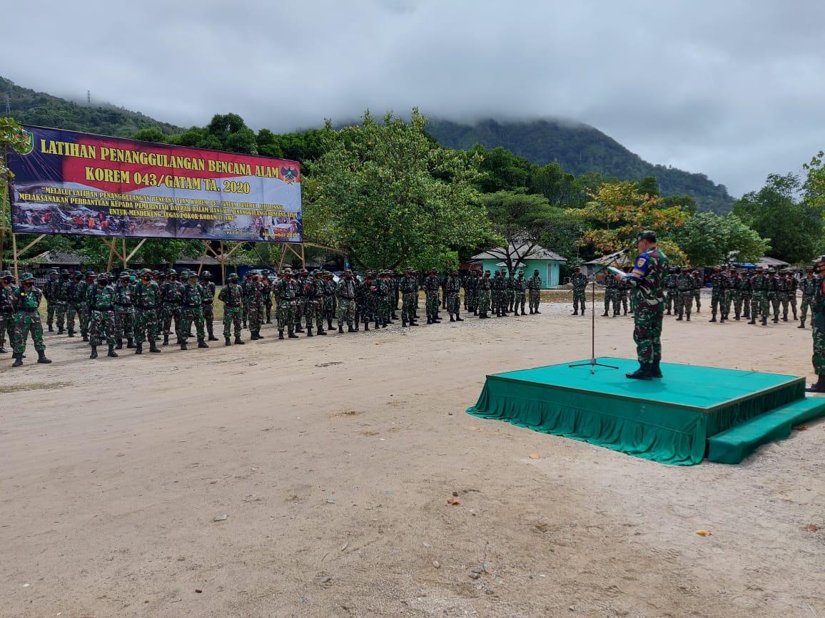 Kodim 0410/KBL mengirim sebanyak 15 personilnya untuk mengikuti kegiatan Latihan Penanggulangan Bencana Alam