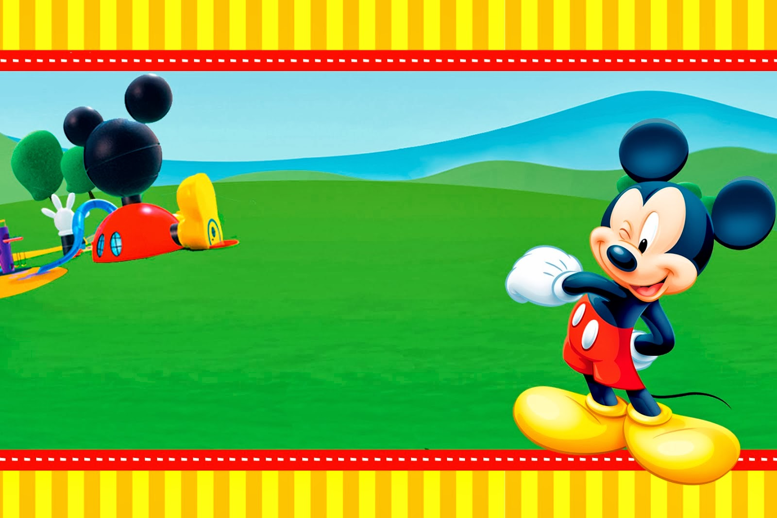 Mickey Clubhouse Invitations and Party Free Printables – Mickey Mouse Invitation Template