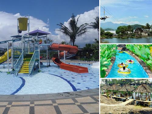 Kampung Batu Malakasari Tektona Waterpark Tempat Wisata