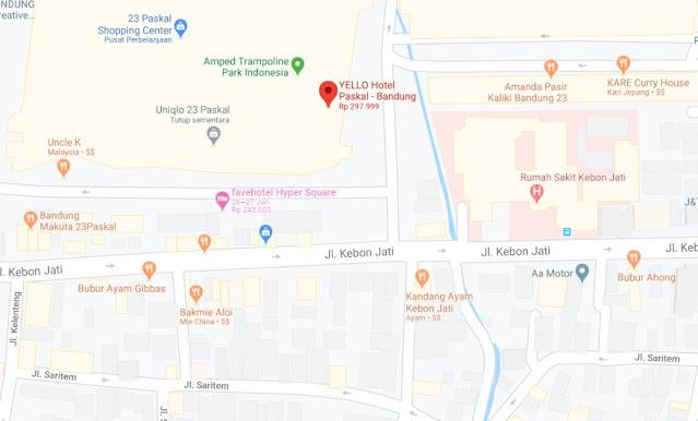 Map Letak Hotel Yello Bandung