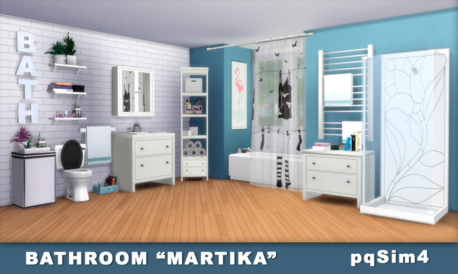 Bathroom martika sims 4 custom content for Bathroom ideas sims 4