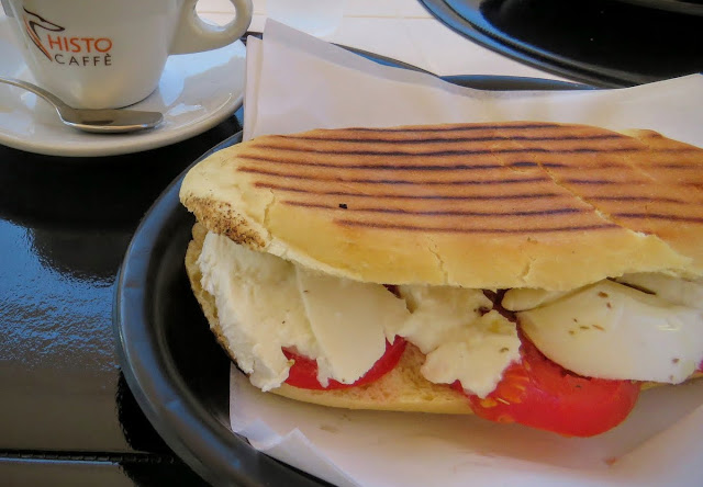 Sicilian Food - panini and espresso