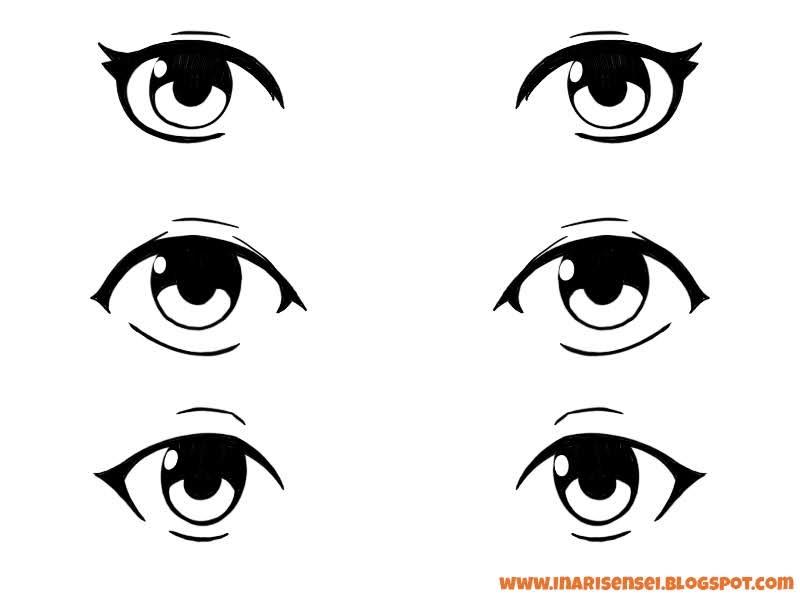 yeux mangas de personnage gentil