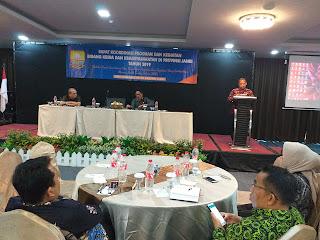 Asisten I Provinsi Jambi Rapat Koordinasi ProgramDan Kegiatan Bidang Kesra Dan Kemasyarakatan Di Provinsi Jambi Tahun 2019