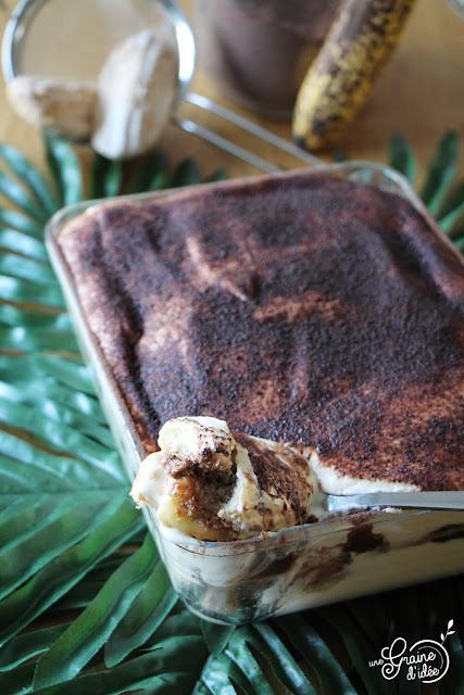 Tiramisu Banane Chocolat Recette Dessert Facile Rapide Gourmande Pas chère