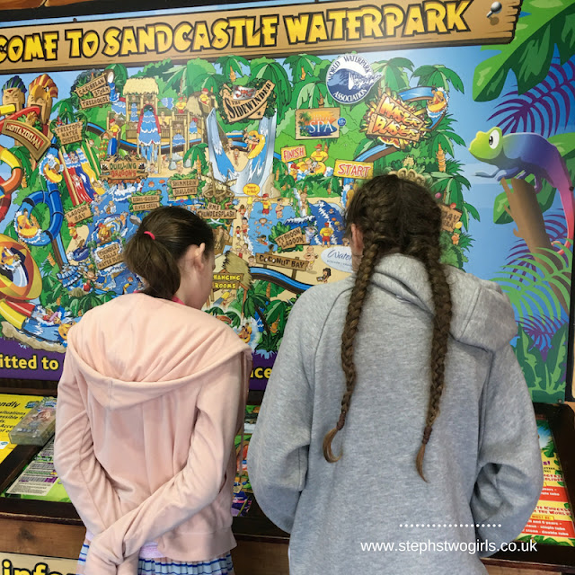 stephs two girls at sandcastle waterpark map