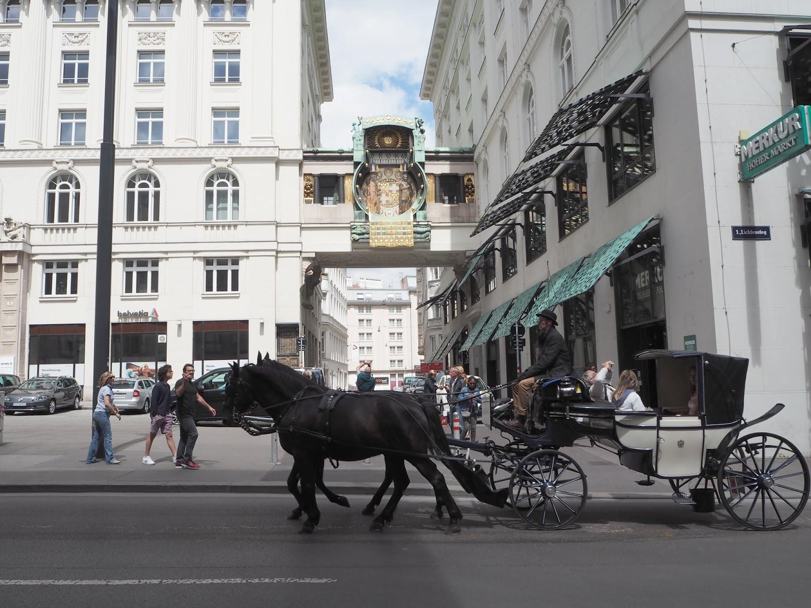 Astrological clock Hoher Markt Vienna