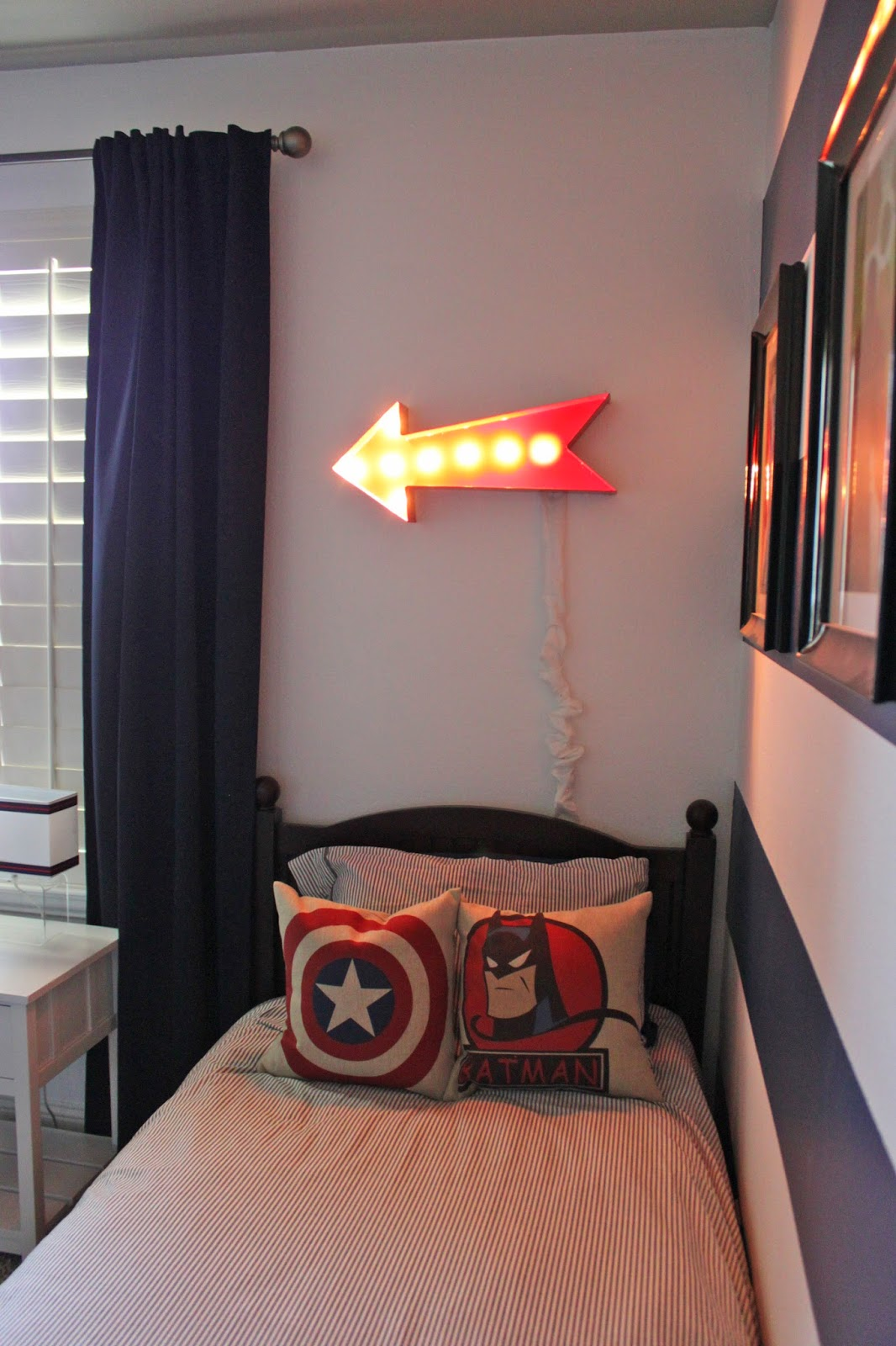 Boys Room Night Light A Little Of This A Little Of That Boys Superhero Room Tour