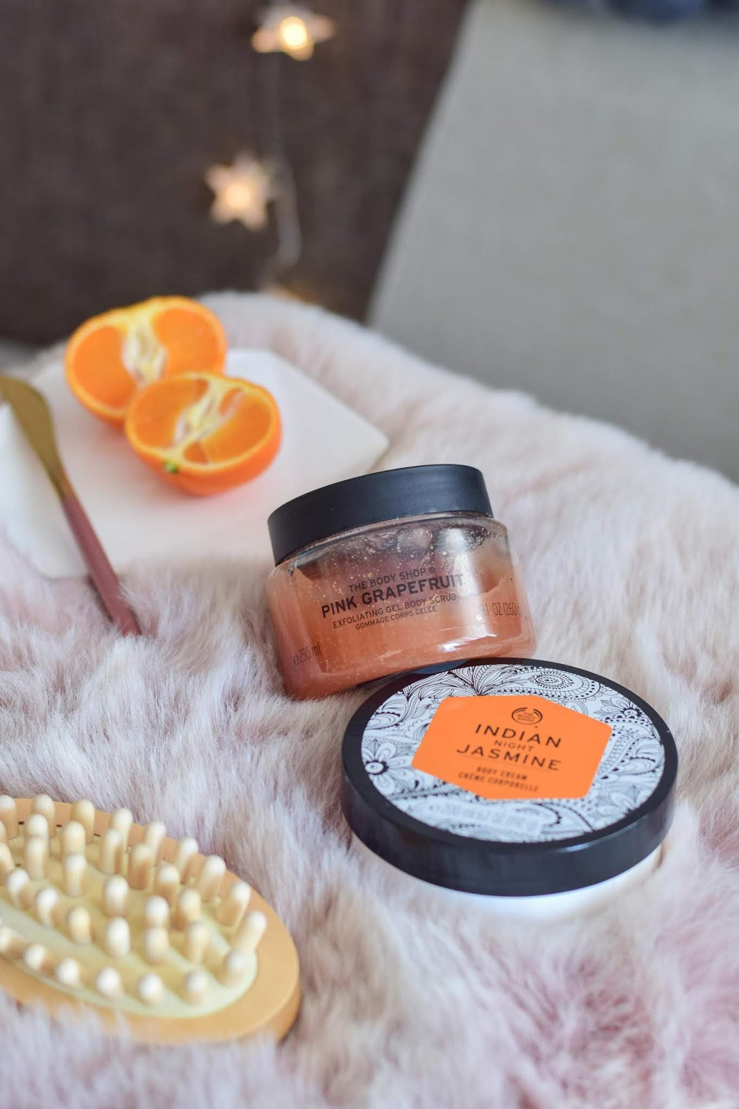 The Body Shop, scrub Różowy Grejpfrut i krem Indian Night Jasmin | Już wiem, o co tyle szumu!