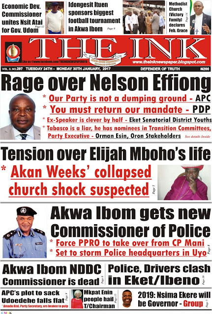 Latest Edition of THE INK NEWSPAPER, Uyo, Akwa Ibom State.