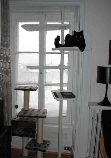 15 ikea diy your cat will appreciate meow - Modern cat tree ikea ...