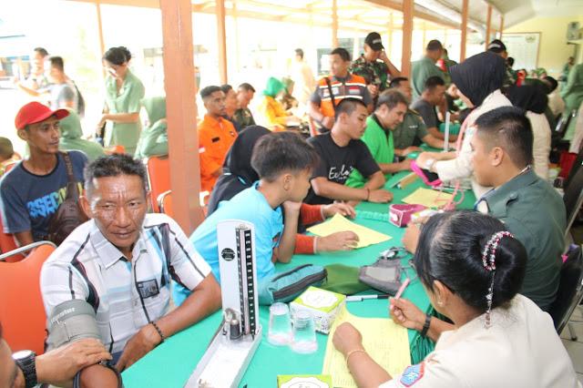 Ribuan Pendonor Ikuti Donor Darah di Kesdam XII/Tpr