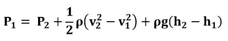 Agrupando términos en la ecuación de Bernoulli del ejemplo 1