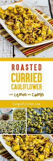 Roasted Curried Cauliflower with Lemon and Cumin found on KalynsKitchen.comRoasted Curried Cauliflower with Lemon and Cumin found on KalynsKitchen.com