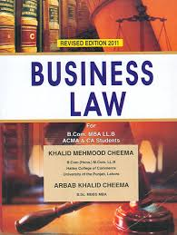 Business Law by Khalid Mehmood Cheema