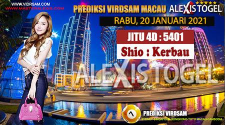 Prediksi Virdsam Togel Macau Rabu 20 Januari 2021