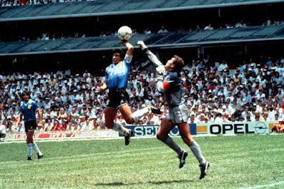 Curiosidades Gol con la Mano Maradona Mundial México 86