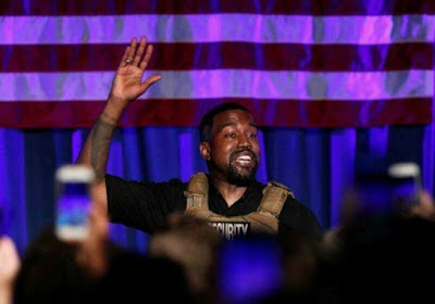 ON WHICH SOCIAL MEDIA PLATFORM DID KANYE ANNOUNCE THAT HE WAS RUNNING FOR PRESIDENT OF THE UNITED STATES?