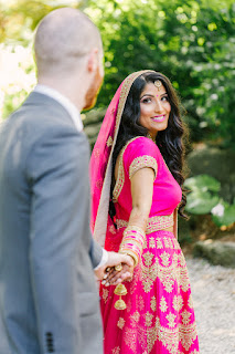 Niagara Wedding Planner - A Divine Affair - Loveleen and Keenan - Photos by Truth and Tales Photography - East Indian Sikh Wedding - Niagara Fallsview Wedding with bright beautiful pink, and gold dresses, decor and flowers. Pink and gold lehenga - Oakes Garden Theatre in Niagara Falls - outdoor wedding ceremony. Mehndi party with henna. Jago. Turmeric Ceremony.