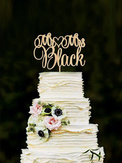 Classic Laser Cut Wedding Cake Topper