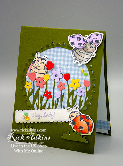Sending Flowers Dies, Little Ladybug Stamp Set, Ladybugs Dies, Stampin' Up!, Rick Adkins Independent Stampin' Up! Demonstrator