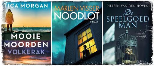 Tica Morgan, Volkerak, Gloude Publishing, Marlen Visser, Noodlot, Prometheus, Heleen van den Hoven, De speelgoedman, Crime Compagnie