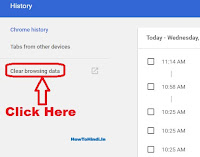 how to delete browsing history in google chrome browser
