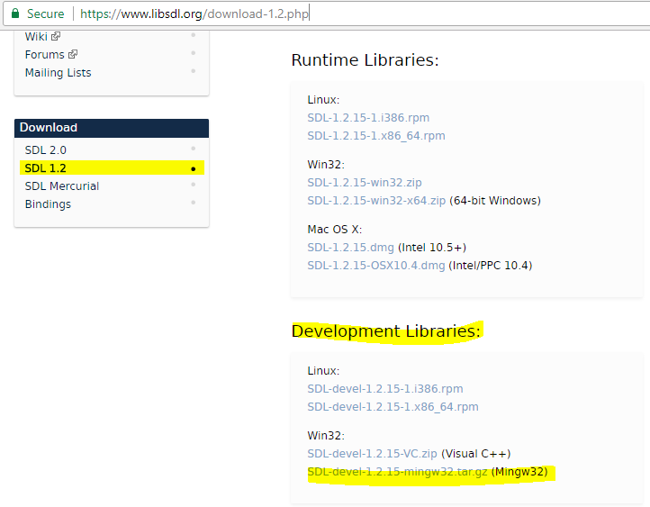 Setup SDL 1 2 version in code::block | Code in code::blocks