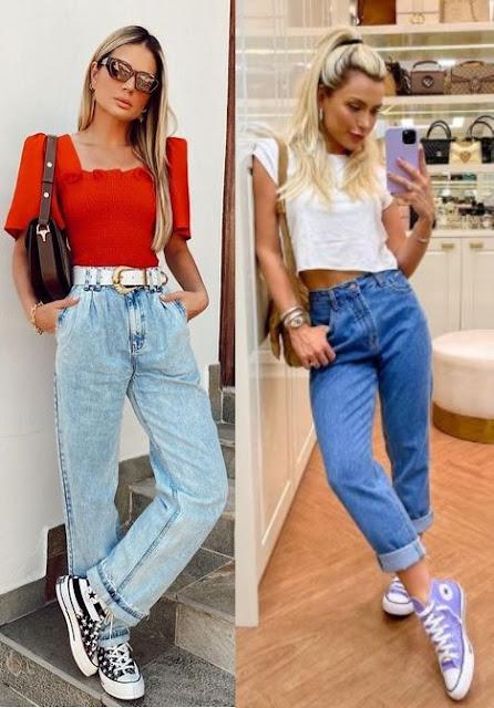 Calças tendência 2021, mom jeans, Thássia Naves, Mama Castilho