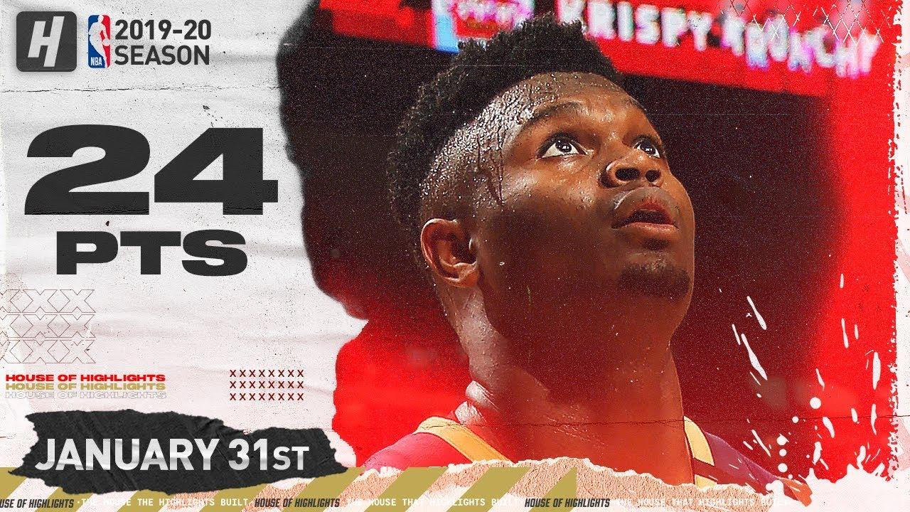 Zion Williamson 24pts 6reb vs MEN   January 31, 2020   2019-20 NBA Season