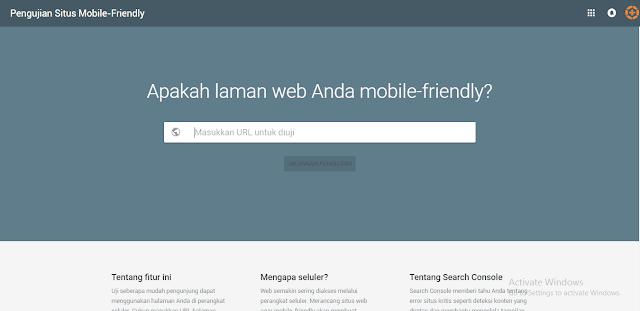 alat tes SEO friendly untuk mobile