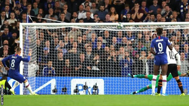 Champions League: Ross Barkley misses a late penalty as Valencia defeat Chelsea
