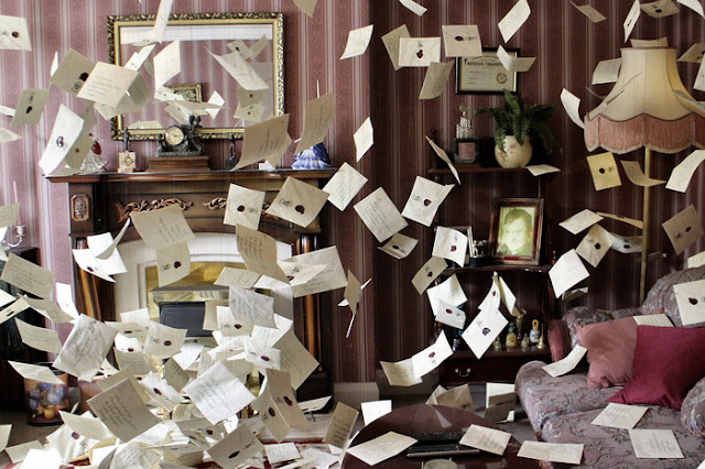 Cartas de admissão a Hogwarts da exposição do museu
