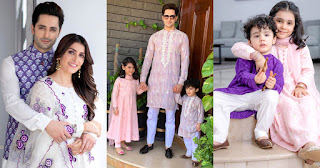Beautiful Eid Pictures of Ayeza Khan and Danish Taimoor with Kids