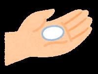 石鹸で手を洗う順番のイラスト(石鹸)