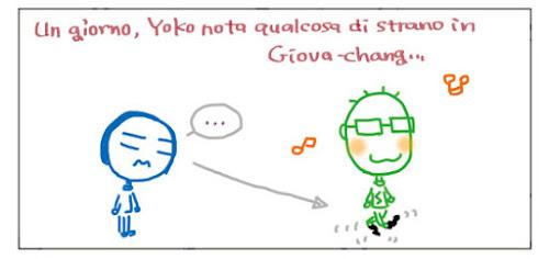 Un giorno, Yoko nota qualcosa di strano in Giava-chang…