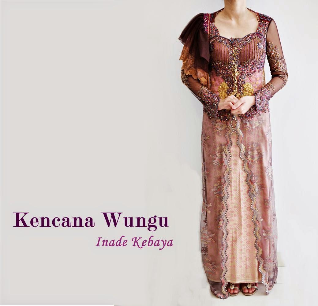 Model Kebaya Resepsi Elegan Kencana Wungu