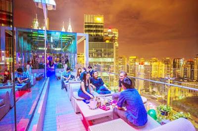 Alto Sky Lounge Tempat Menarik di Melaka Waktu Malam
