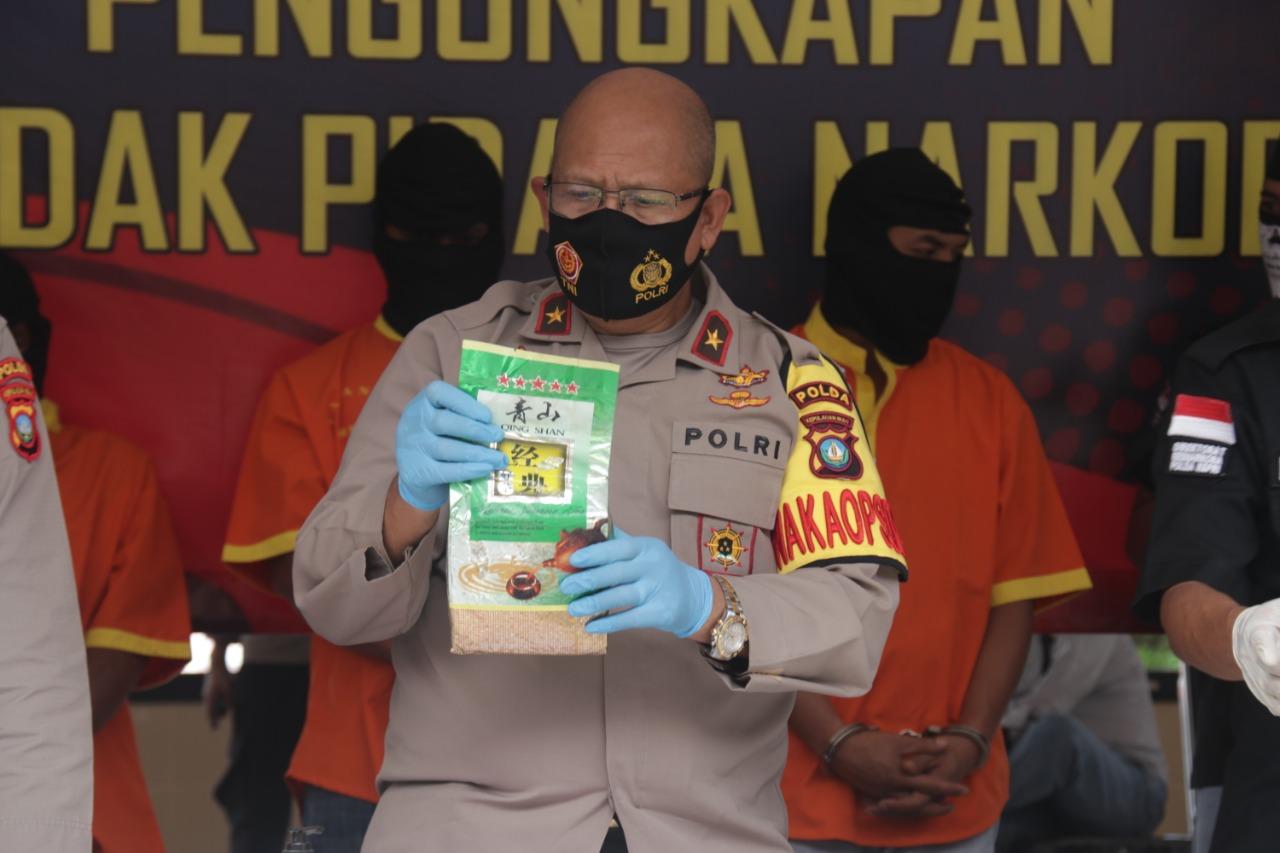 Dit Resnarkoba Polda Kepri Amankan Tiga Orang Tersangka dan 46 Kg  Narkotika Jenis Sabu
