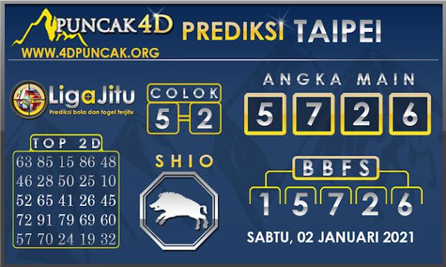 PREDIKSI TOGEL TAIPEI PUNCAK4D 02 JANUARI 2021