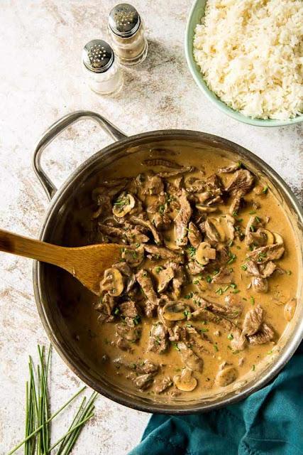 Beef Stroganoff | Valerie's Kitchen
