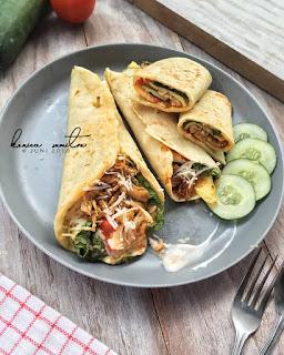 Resep Kulit Kebab Dan Ayam Suwir By @konicasumitro